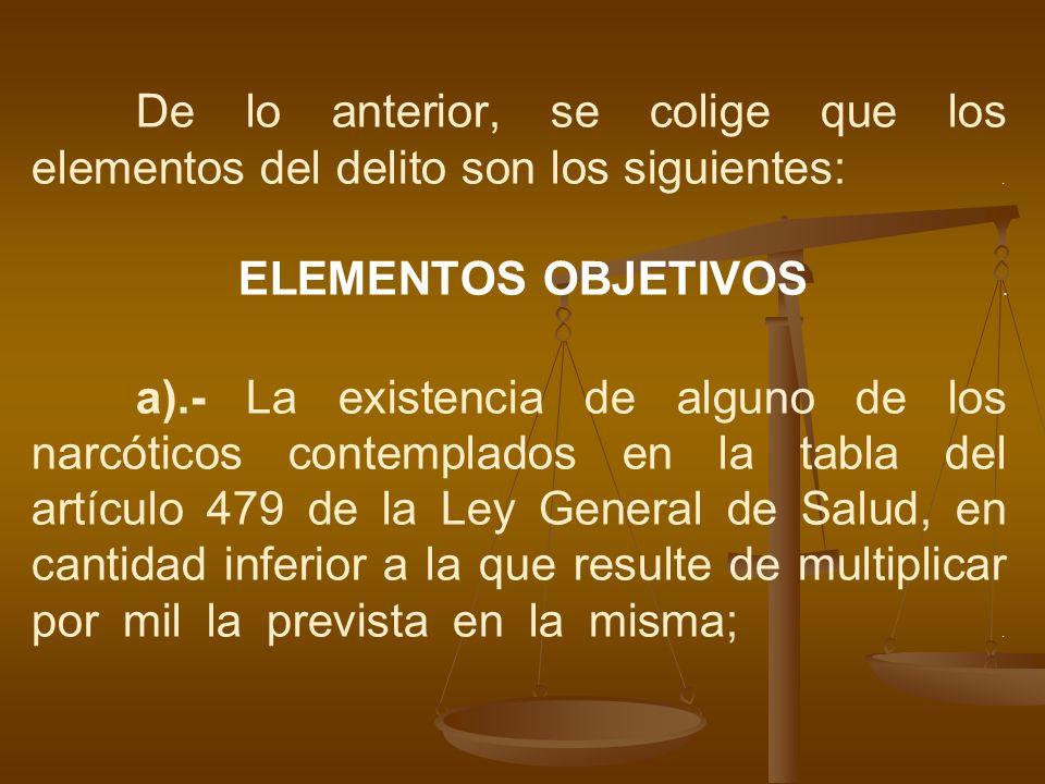 De lo anterior, se colige que los elementos del delito son los siguientes: .