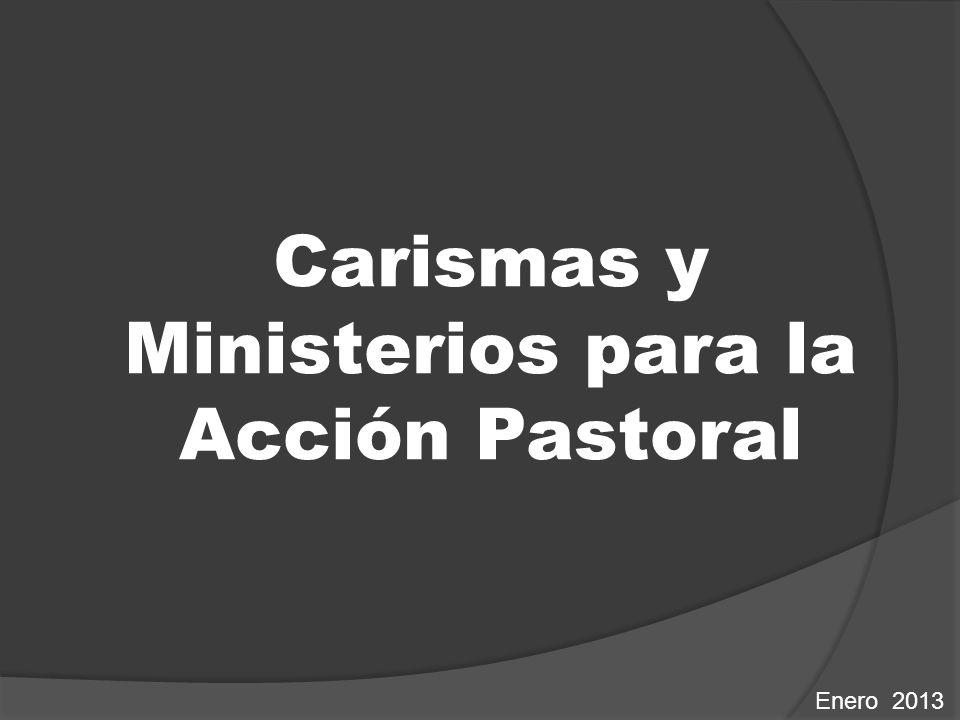 Carismas y Ministerios para la Acción Pastoral