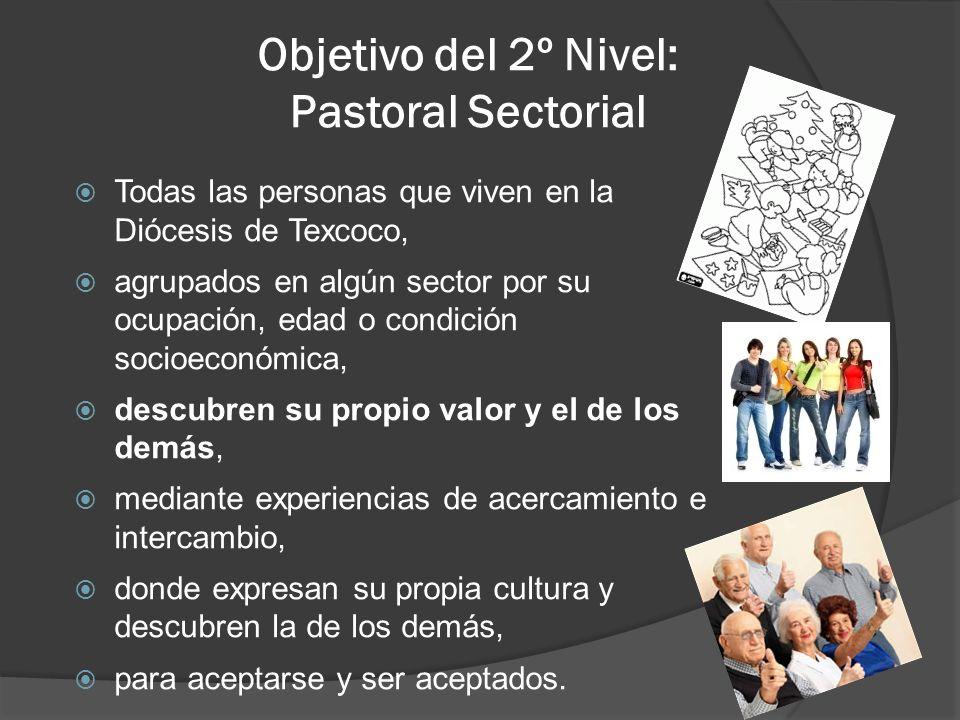 Objetivo del 2º Nivel: Pastoral Sectorial