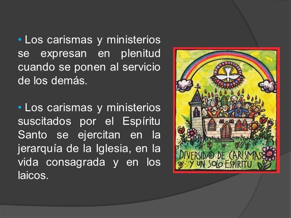Los carismas y ministerios se expresan en plenitud cuando se ponen al servicio de los demás.