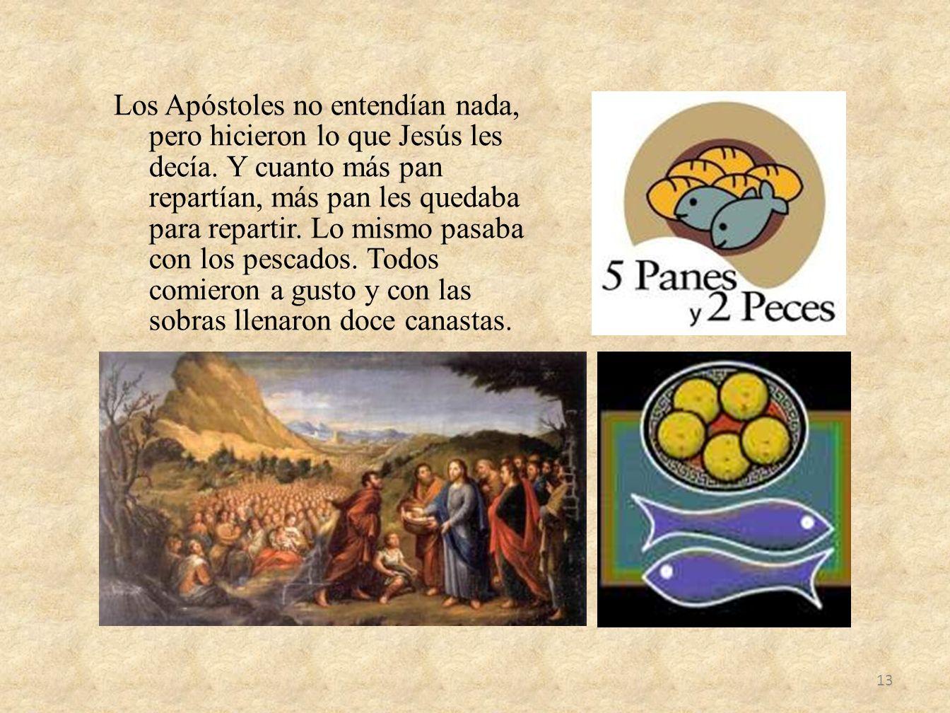 Los Apóstoles no entendían nada, pero hicieron lo que Jesús les decía