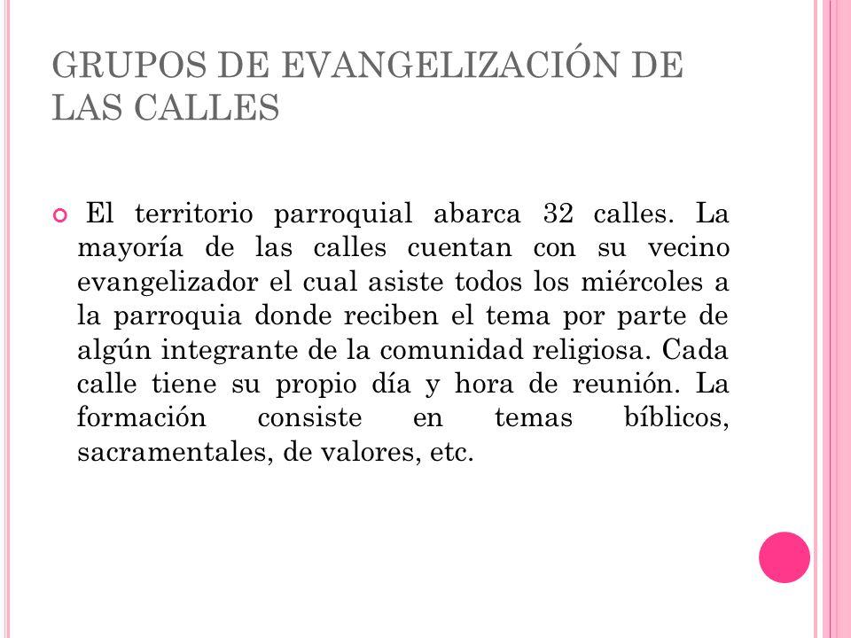 GRUPOS DE EVANGELIZACIÓN DE LAS CALLES
