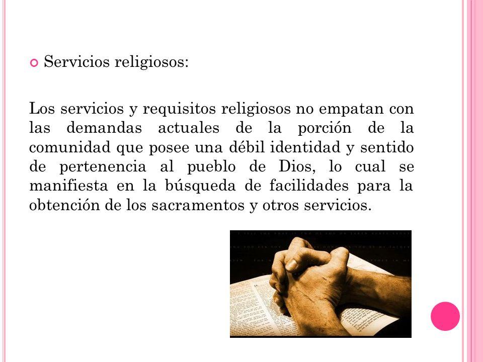 Servicios religiosos: