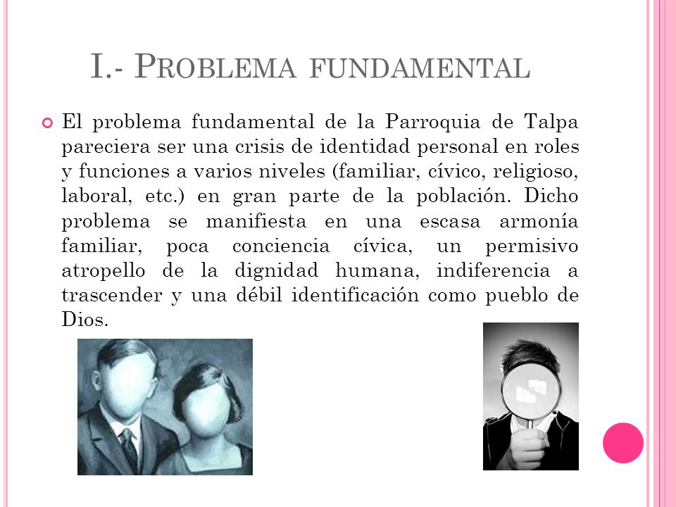 I.- Problema fundamental