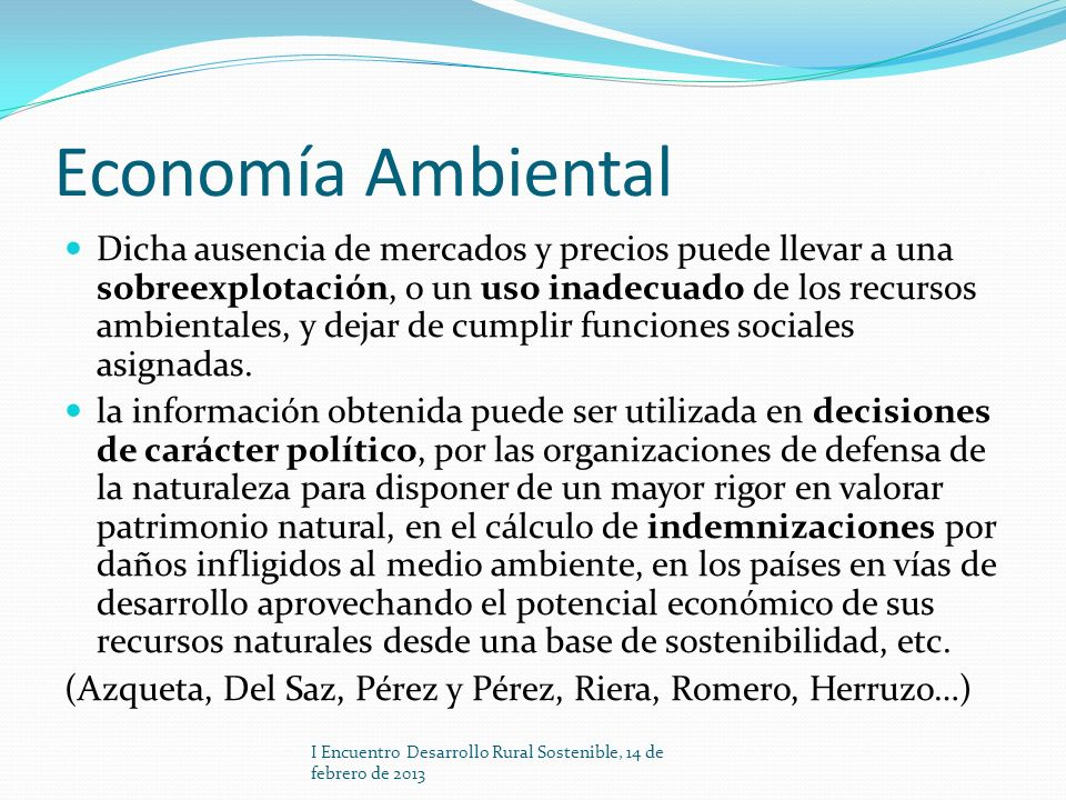 Economía Ambiental