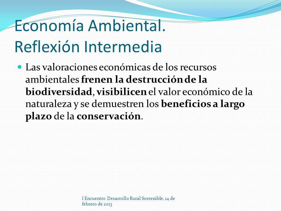 Economía Ambiental. Reflexión Intermedia