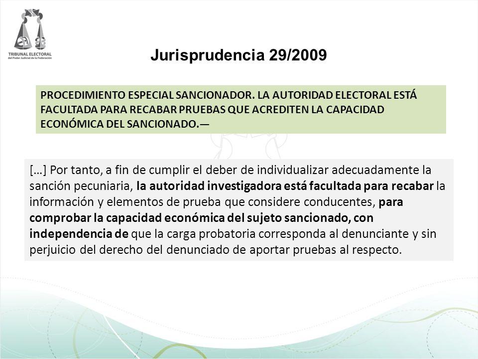 Jurisprudencia 29/2009
