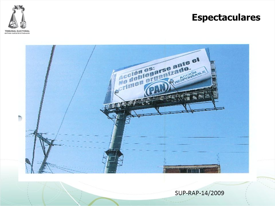 Espectaculares SUP-RAP-14/2009
