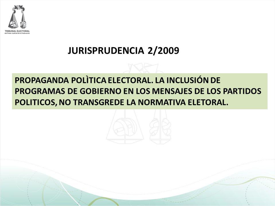 JURISPRUDENCIA 2/2009