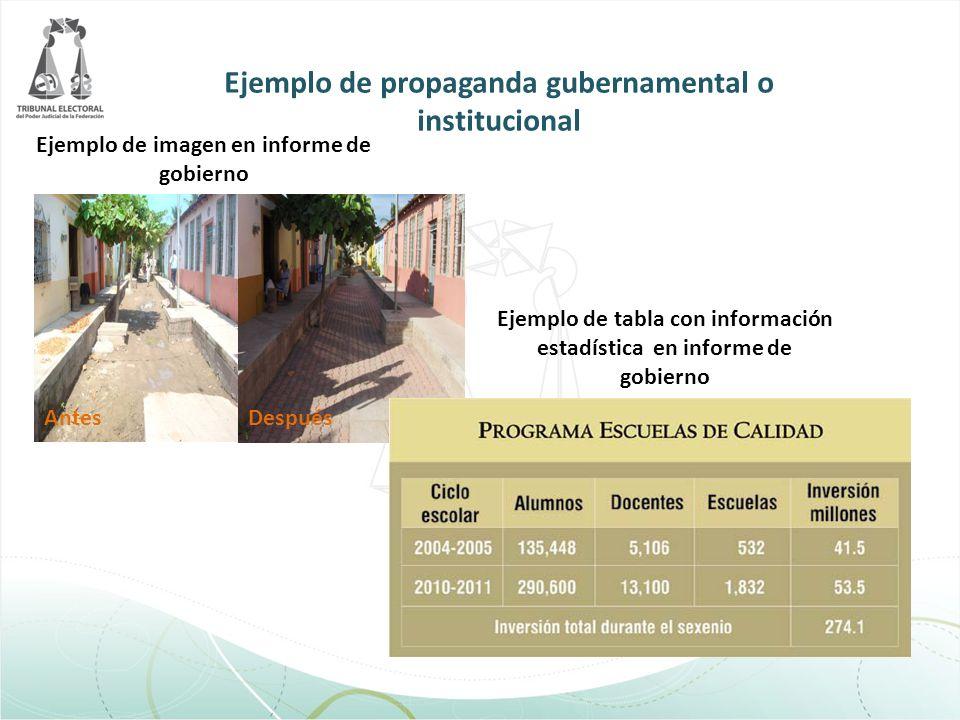 Ejemplo de propaganda gubernamental o institucional