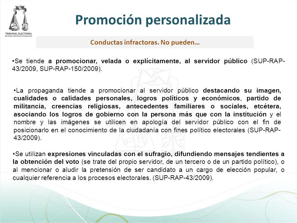 Promoción personalizada Conductas infractoras. No pueden…
