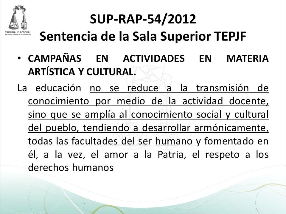 SUP-RAP-54/2012 Sentencia de la Sala Superior TEPJF
