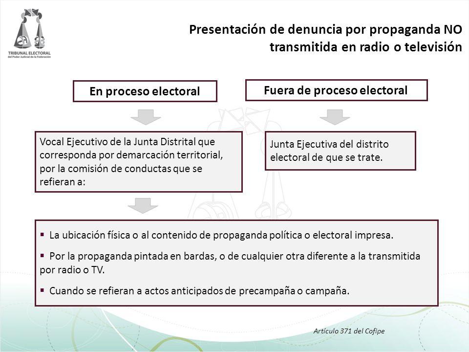 Fuera de proceso electoral