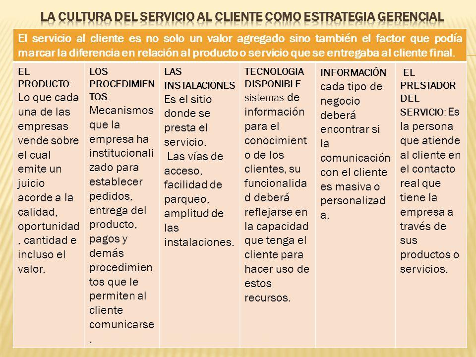 La cultura del servicio al cliente como estrategia gerencial
