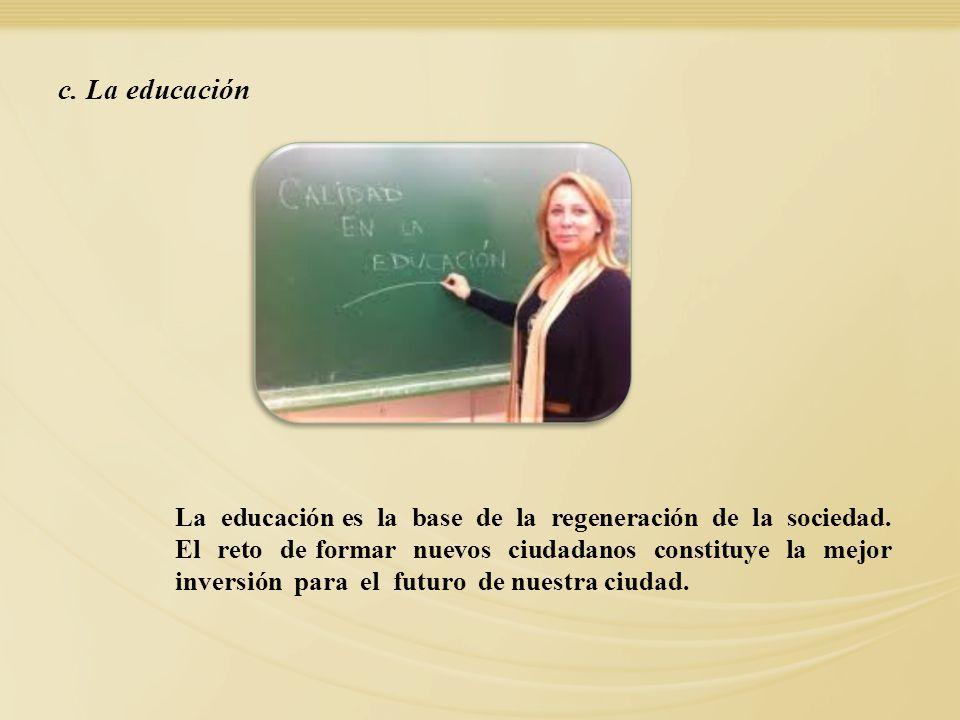 c. La educación 14.