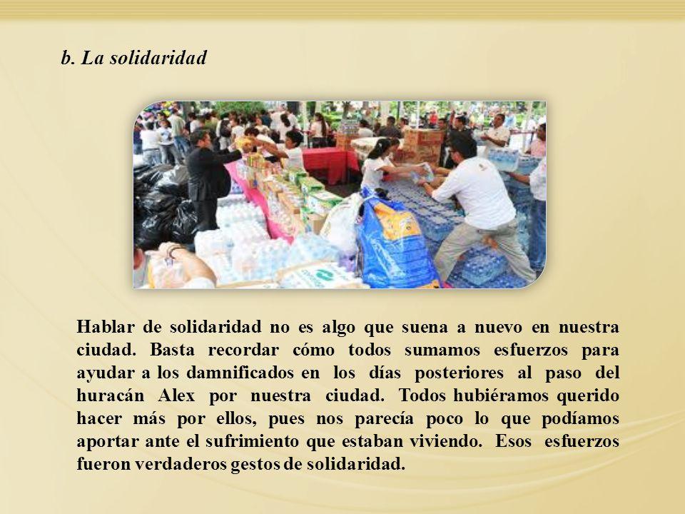 b. La solidaridad