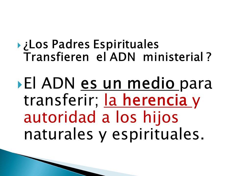 ¿Los Padres Espirituales Transfieren el ADN ministerial