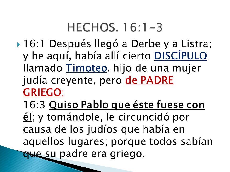 HECHOS. 16:1-3