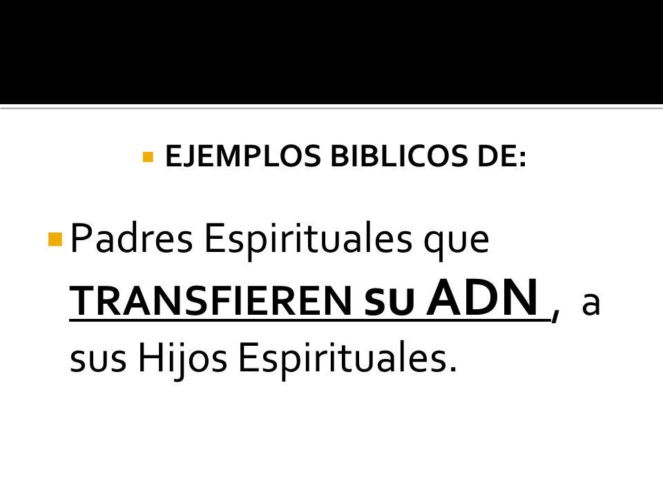 Padres Espirituales que TRANSFIEREN su ADN , a sus Hijos Espirituales.