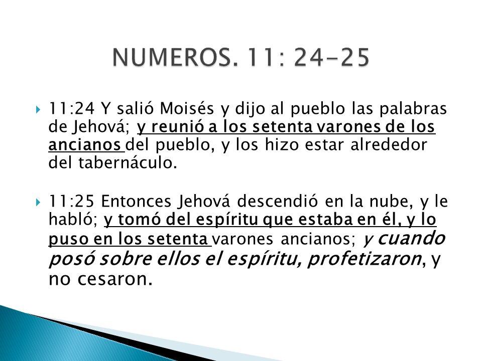 NUMEROS. 11: 24-25