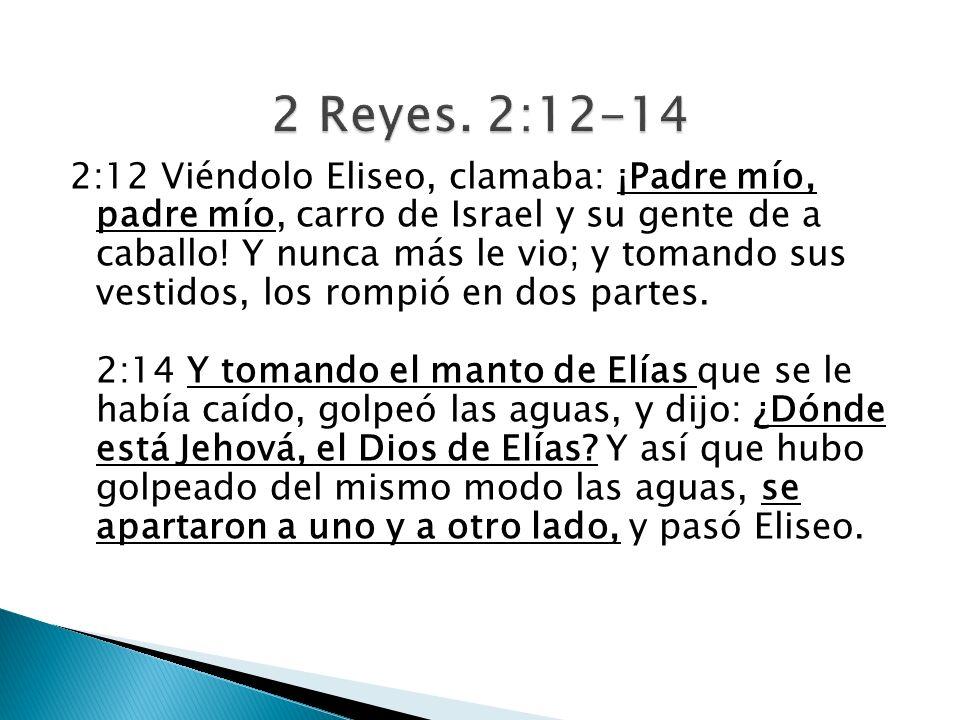 2 Reyes. 2:12-14