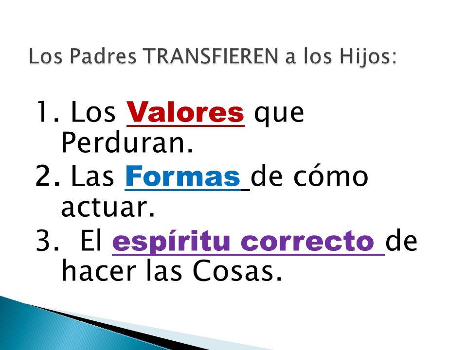 Los Padres TRANSFIEREN a los Hijos: