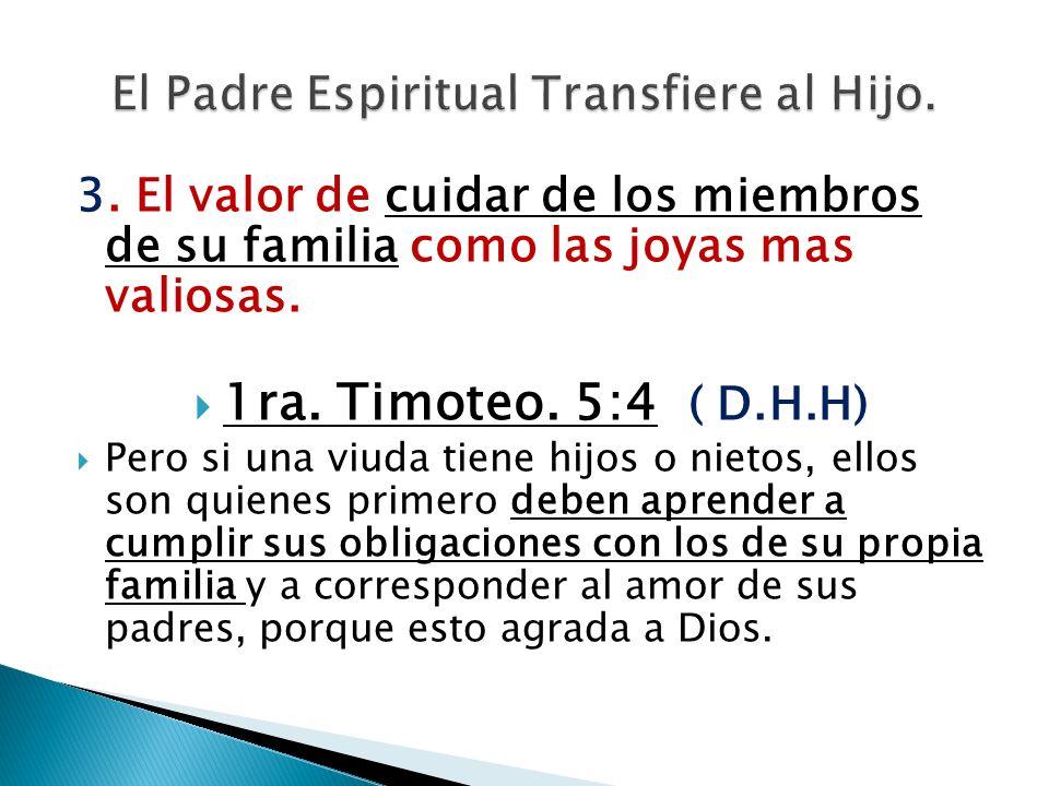 El Padre Espiritual Transfiere al Hijo.