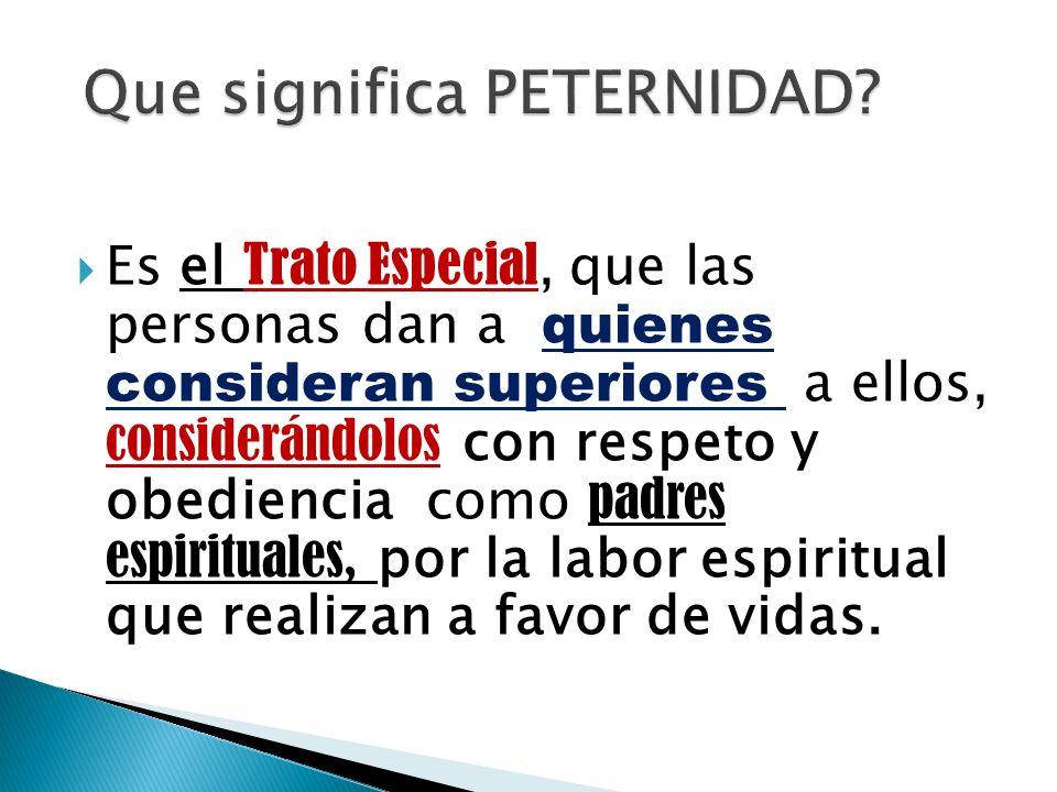 Que significa PETERNIDAD