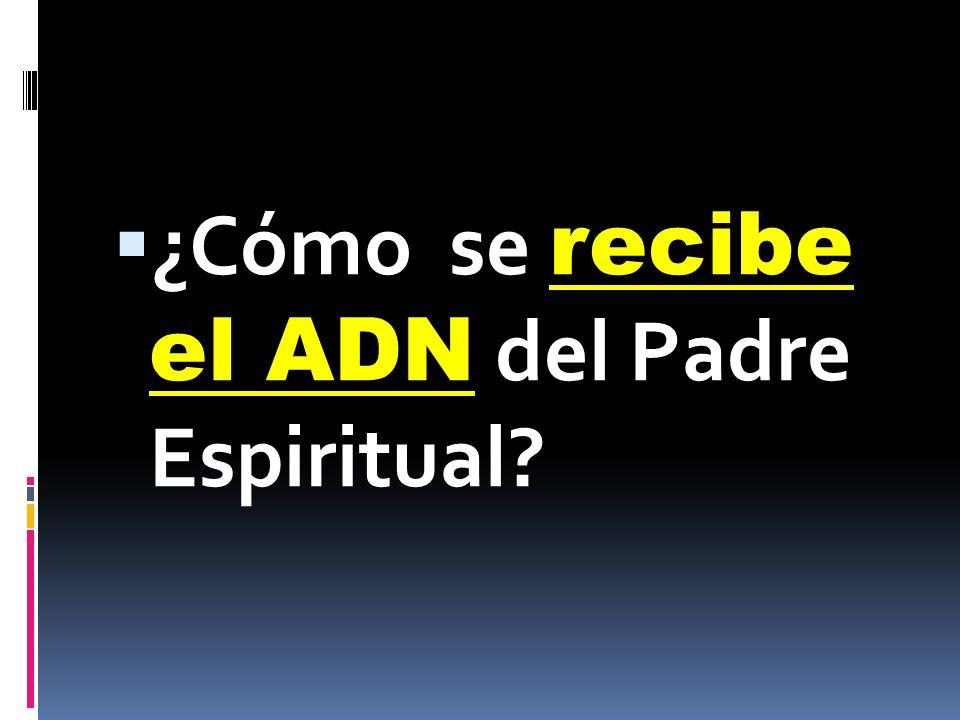 ¿Cómo se recibe el ADN del Padre Espiritual