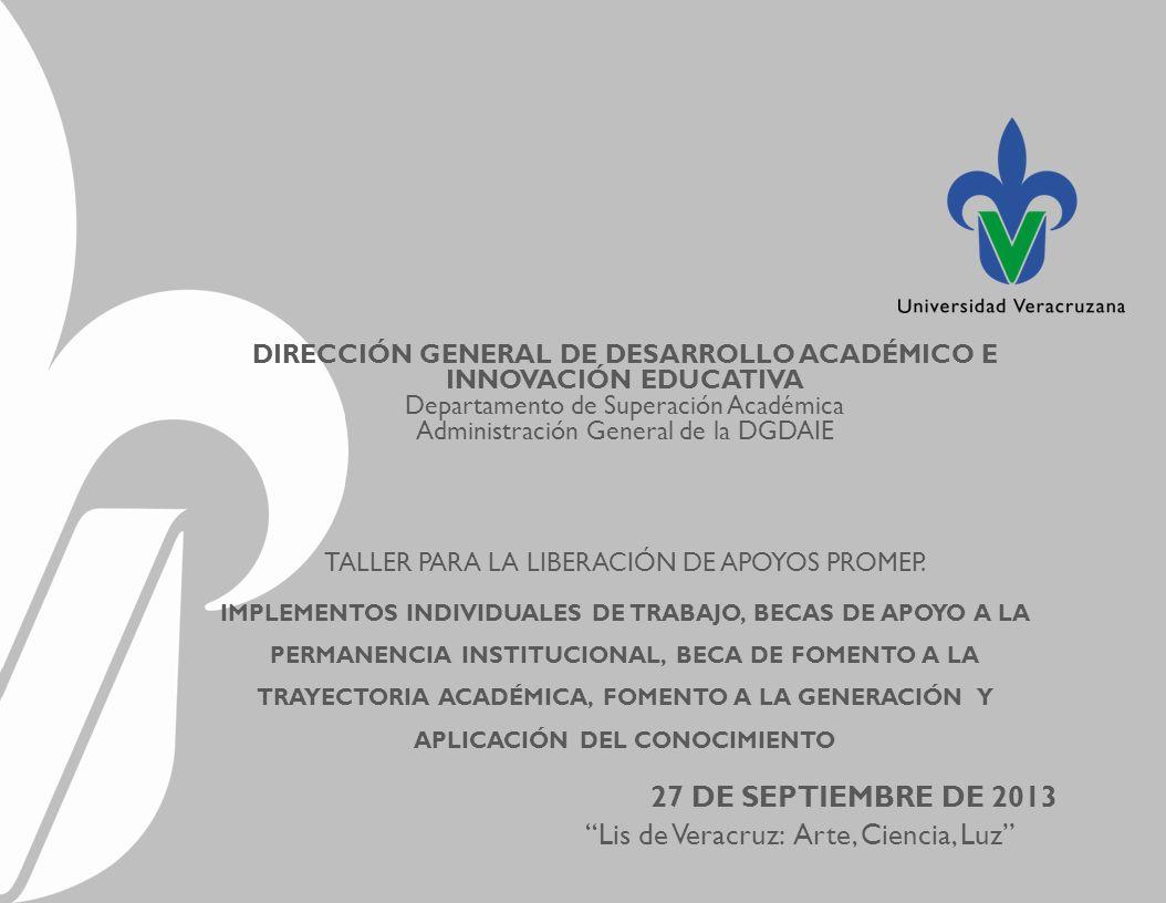 DIRECCIÓN GENERAL DE DESARROLLO ACADÉMICO E