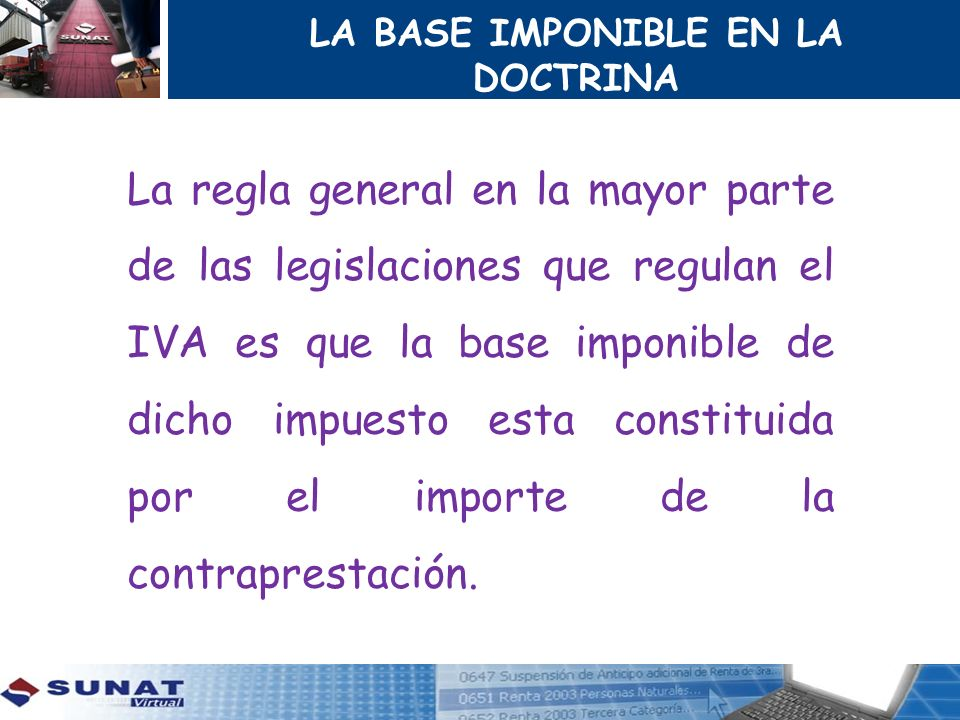LA BASE IMPONIBLE EN LA DOCTRINA