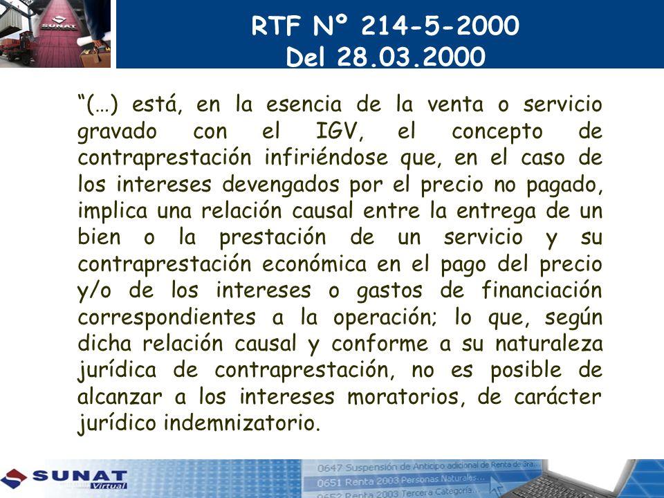 RTF Nº 214-5-2000 Del 28.03.2000.