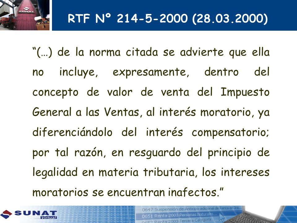 RTF Nº 214-5-2000 (28.03.2000)