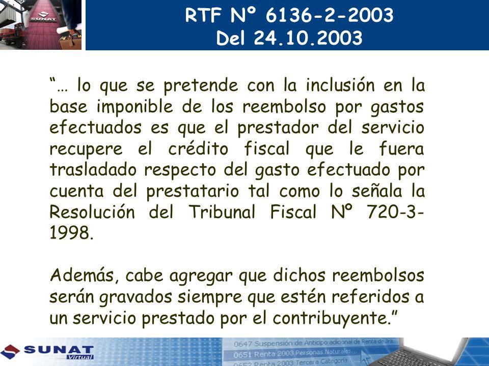 RTF Nº 6136-2-2003 Del 24.10.2003.