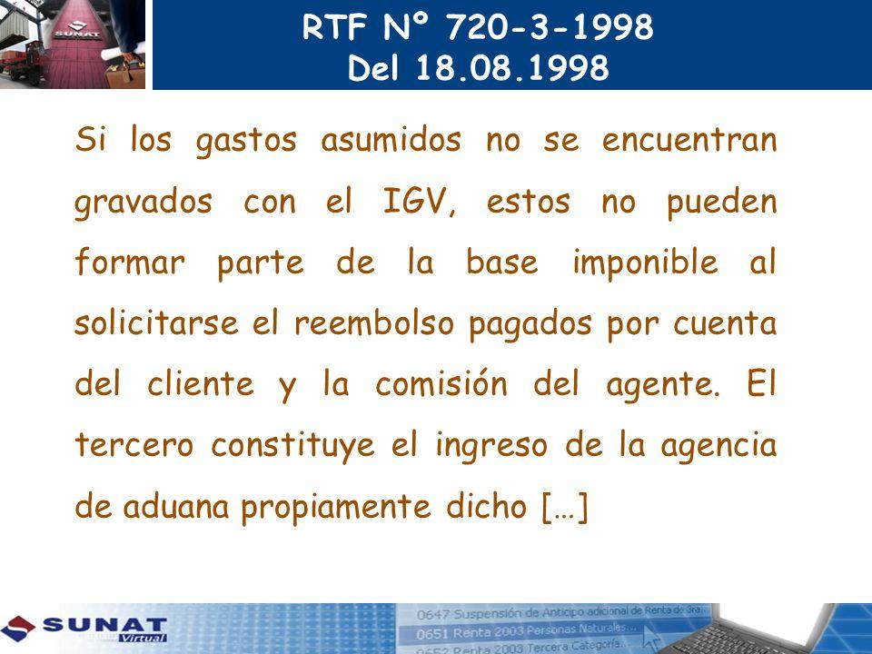 RTF Nº 720-3-1998 Del 18.08.1998.