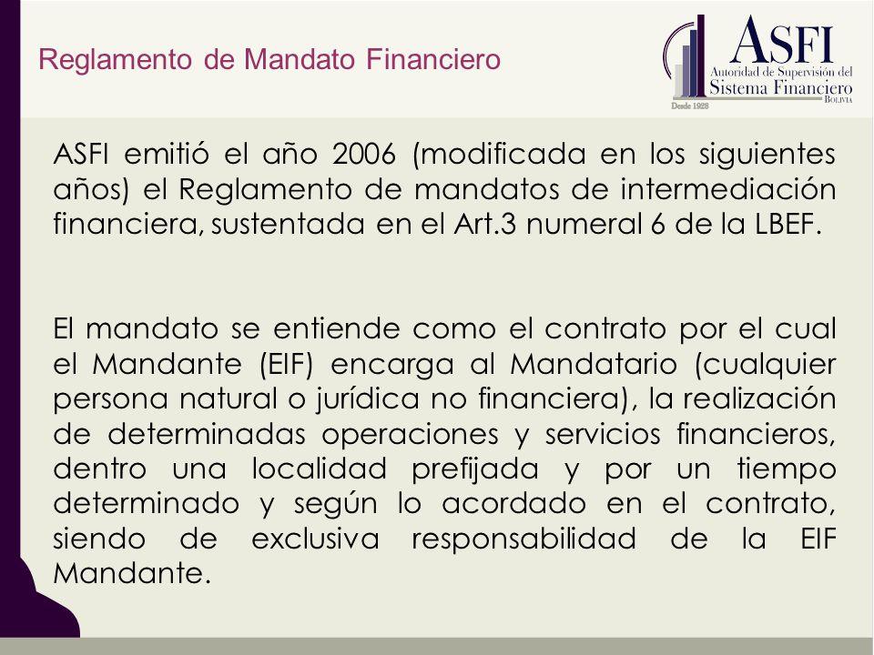 Reglamento de Mandato Financiero