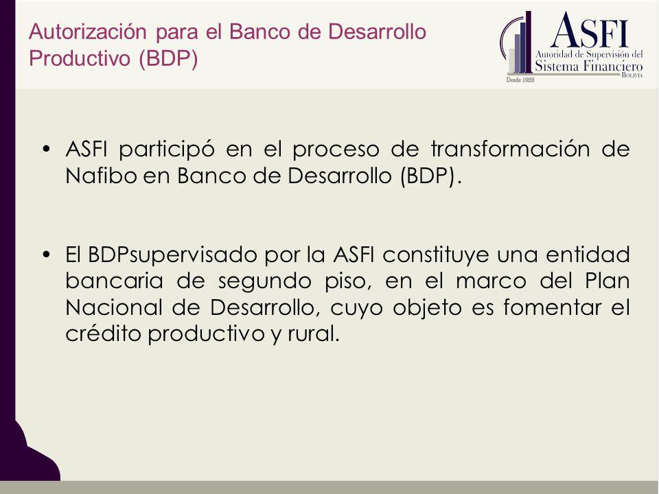 Autorización para el Banco de Desarrollo