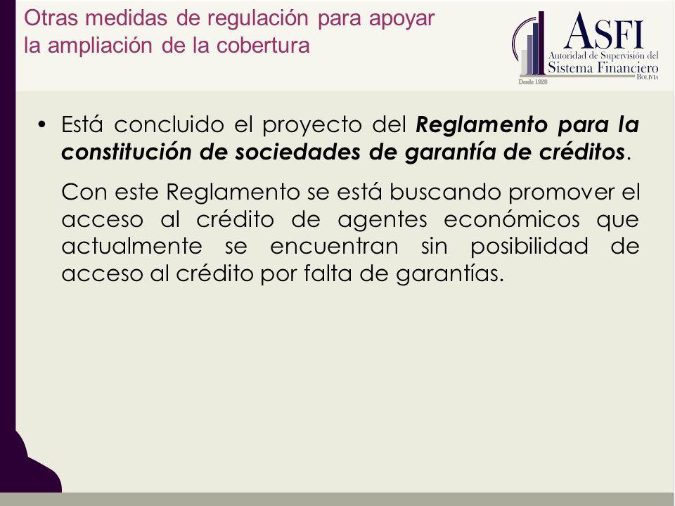 Otras medidas de regulación para apoyar