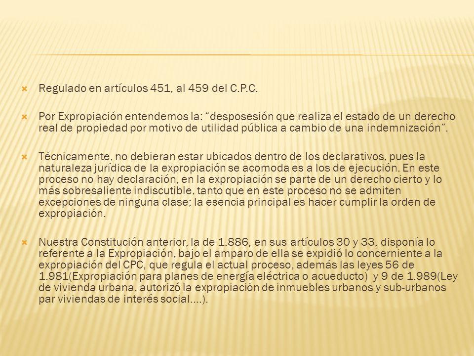 Regulado en artículos 451, al 459 del C.P.C.