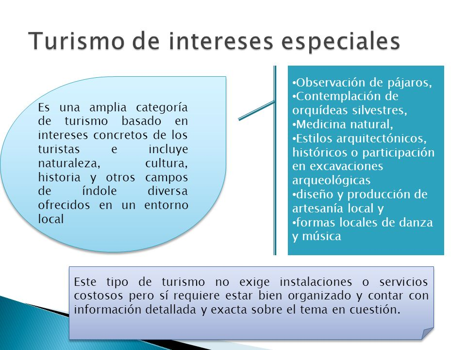 Turismo de intereses especiales
