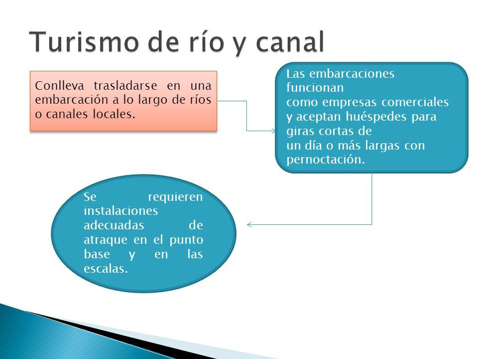 Turismo de río y canal Las embarcaciones funcionan