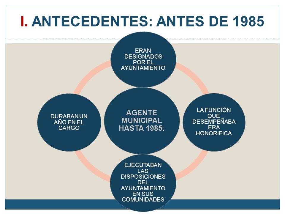 I. ANTECEDENTES: ANTES DE 1985