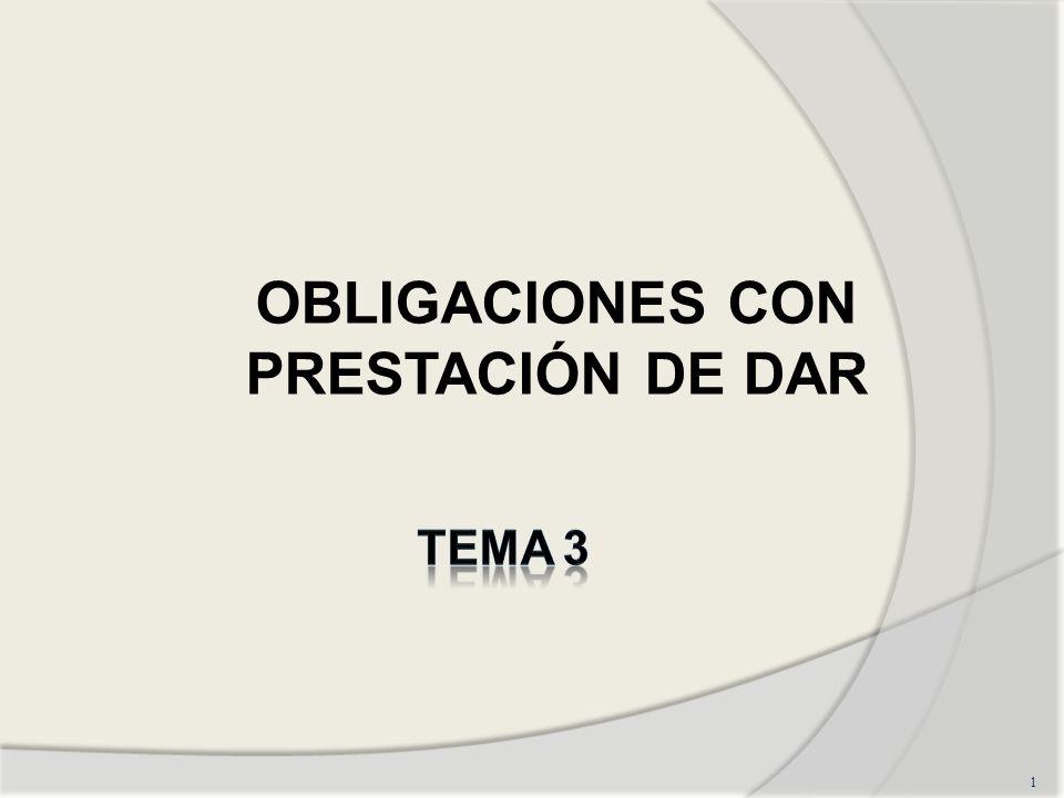 OBLIGACIONES CON PRESTACIÓN DE DAR