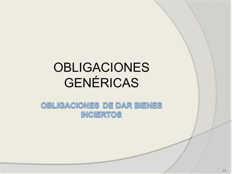 OBLIGACIONES DE DAR BIENES INCIERTOS