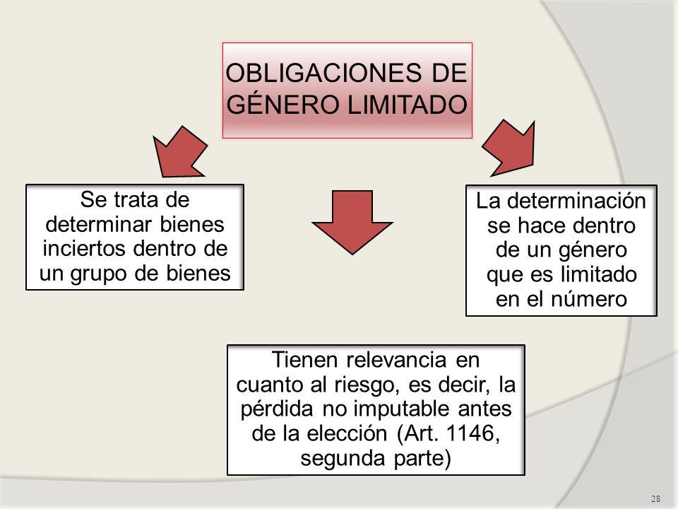 OBLIGACIONES DE GÉNERO LIMITADO