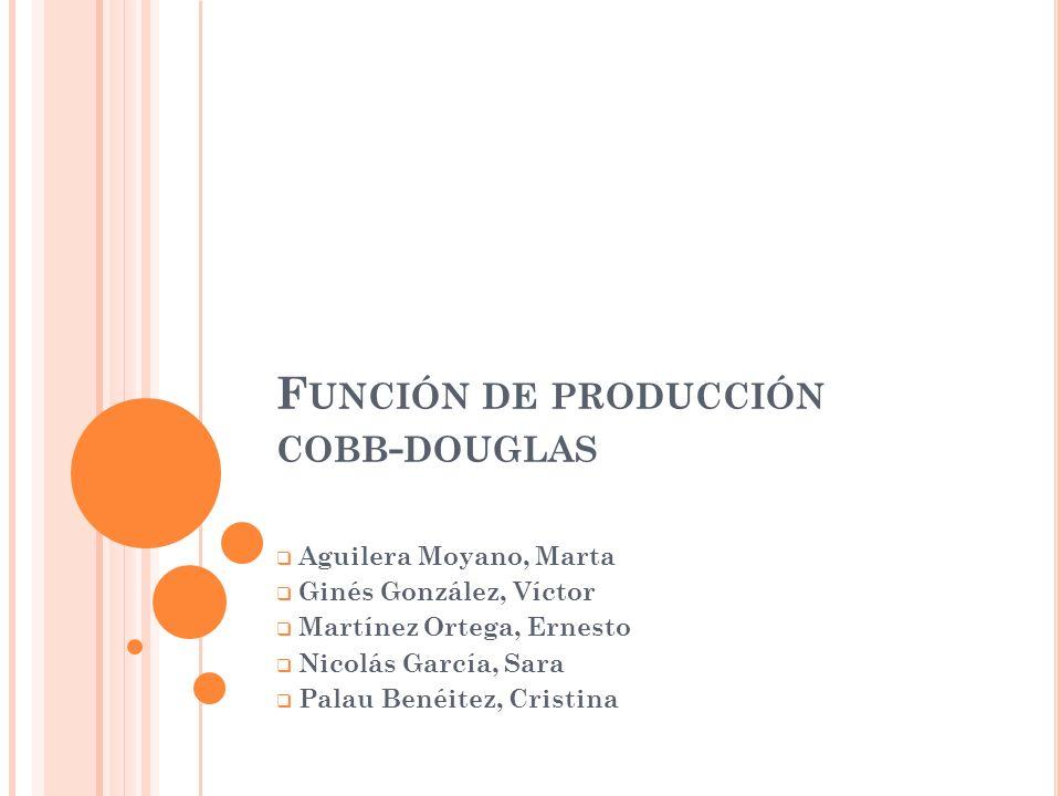 Función de producción cobb-douglas