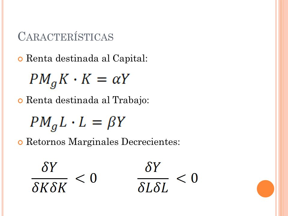 Características Renta destinada al Capital:
