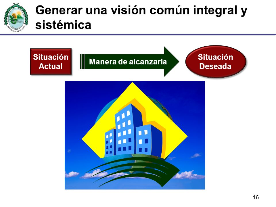 Generar una visión común integral y sistémica