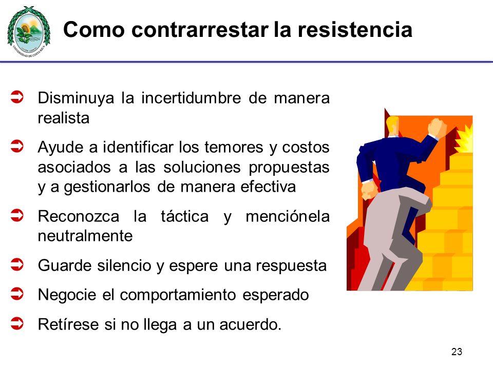 Como contrarrestar la resistencia