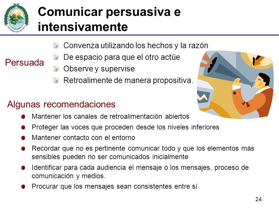 Comunicar persuasiva e intensivamente
